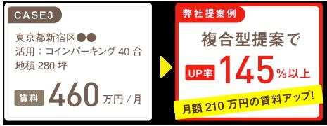 東京都豊島区●●地積:210坪コインパーキング30台口。複合型提案でUP率136%以上